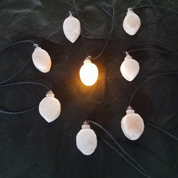 Hand Crafted Himalayan Salt Necklace that Lights Up! (special shape)