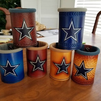 Handmade Leather Koozies