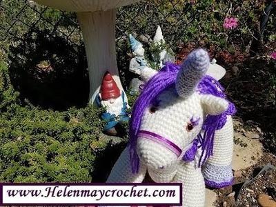 Helenmay Crochet Magical Unicorn Part 1 of 2 DIY Video Tutorial