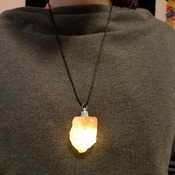 Himalayan Salt Necklace that lights up!