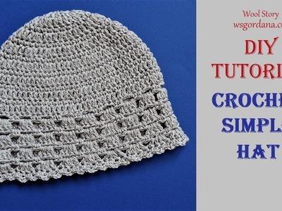 How to Crochet a Simple Hat (Heklana kapa)