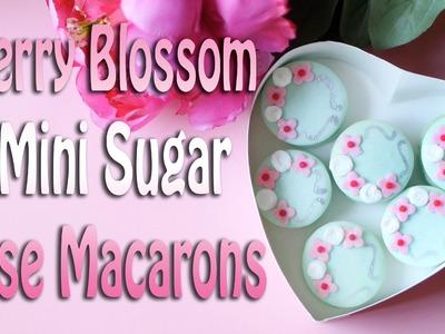 How to Decorate Cherry Blossom Macarons