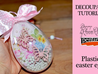 How to decorate easter plastic eggs with decoupage : diy easter decoration : Pentart
