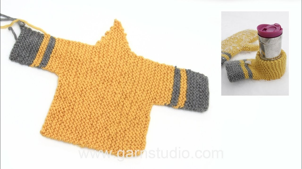 How to knit the beer mitten in DROPS Extra 0-1422