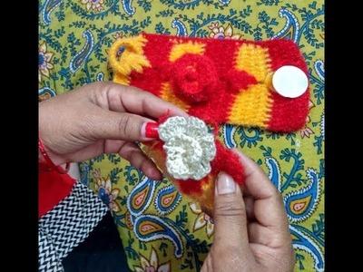 How to knit woolen flower - woolen rose design in hindi | woolen sweater making