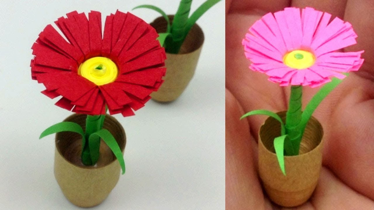 Paper quilling flower pot best image of flower mojoimage how to make flower pot with quilling paper flowers healthy mightylinksfo