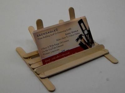 How To Make A Business Card Holder.Stand