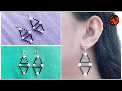 How to Make Beaded Earrings. DIY. Beginners. Design 11