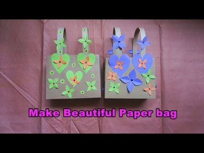 How to make gift Bag using paper | easy paper craft tutorial