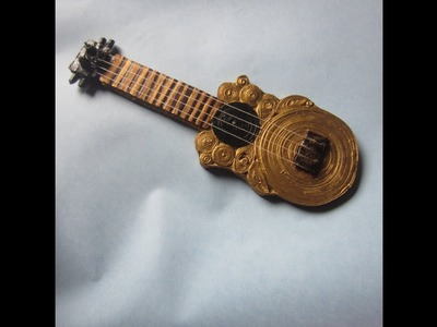 How to make Guitar.Quilled guitar.Quilled instrument step by step