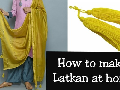 HOW TO MAKE Latkan.TASSELS FOR INDIAN OUTFIT| DIY USING LACE.FABRIC|