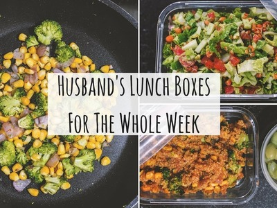 Husband's Lunch Boxes For The Whole Week | Indian Lunch Box Recipes For Office (Veg) | Saloni