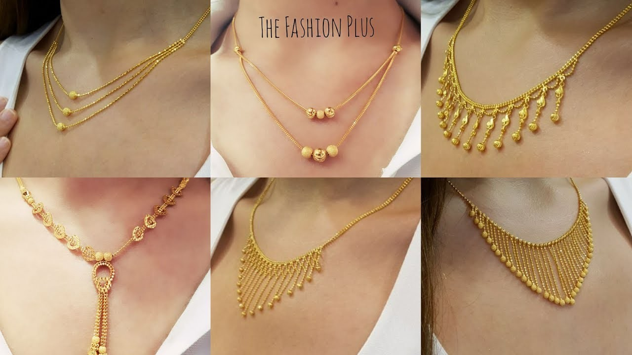 376b1684f26 Latest light weight design s of gold chain necklaces 2018