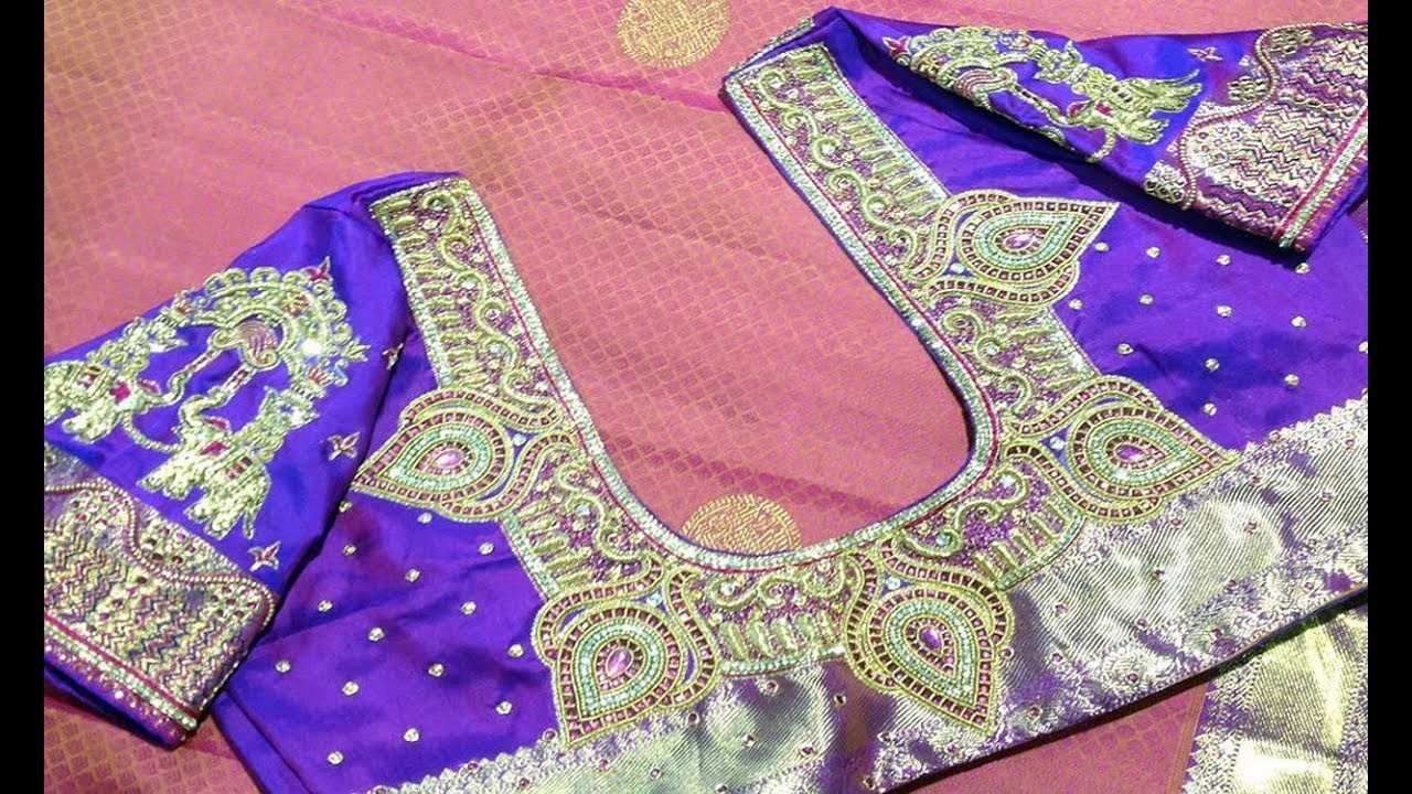 Maggam Work And Aari Work Blouse Designs For Silk Sarees Wedding