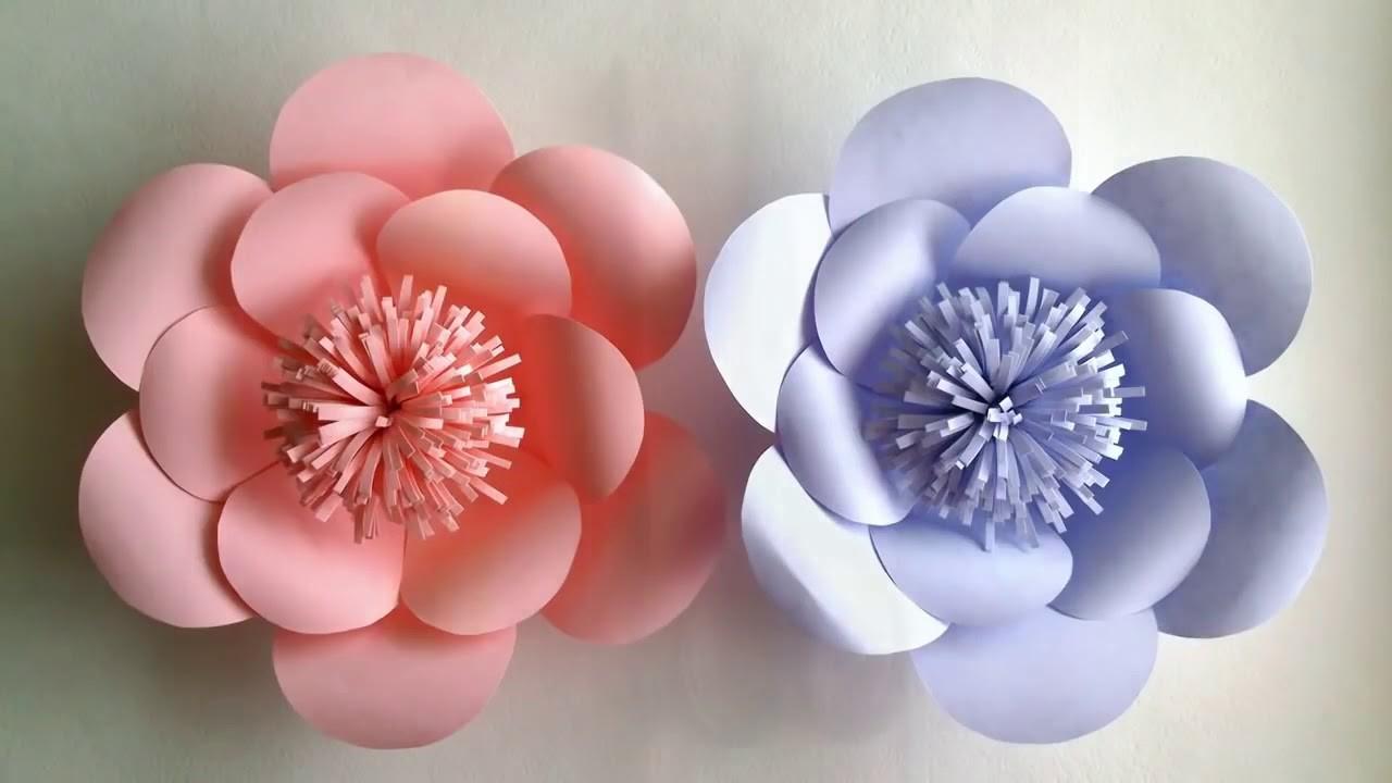 Paper Flowers Diy Tutorial Easy For Children Flower Folding For Kids