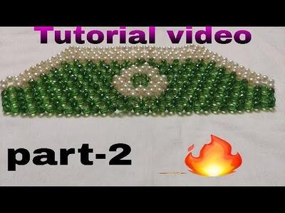 Part-2.How to make beads bag (pearl  beaded bag)