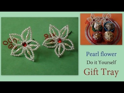 Pearl flower with Tray Decoration DIY