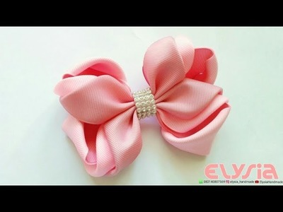 Pinkish Ribbon Bow | DIY by Elysia Handmade