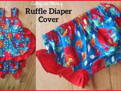 Ruffle Diaper Cover Cutting and Stitching | DIY Diaper Cover