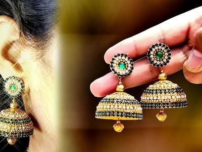 Simple and Beautiful Silk Thread Earrings | Making Silk Thread Jhumkas #2