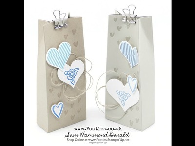 Stampin' Up! Heart Happiness Bag Tutorial – 2 From One Sheet of Cardstock