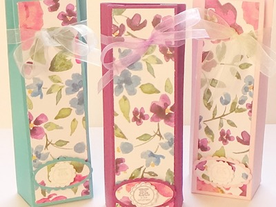 Stampin' Up! Painted Blooms Pleated Fold Top Gift Bag