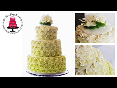 Three Tier Rosette Wedding Cake - How To With The Icing Artist