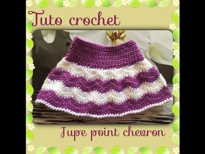 Tuto crochet jupe bébé au point chevron