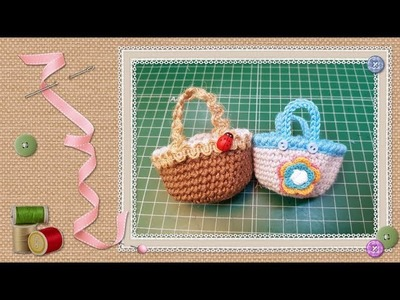 Tutorial mini cesta de crochet. Tutorial mini crochet basket