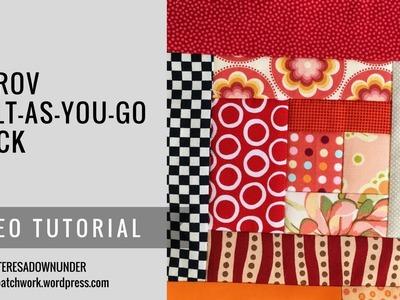 Video tutorial: Improv log cabin quilt as you go