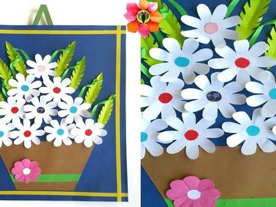 Wall hanging Flower Pot Bouquet Decoration - DIY Tutorial - 64