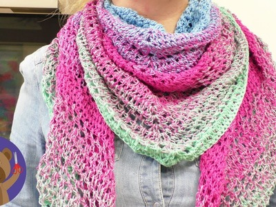 XXL Triangle Scarf | Spring Patterns to Freshen Up Your Accessories | Easy Crochet Projects