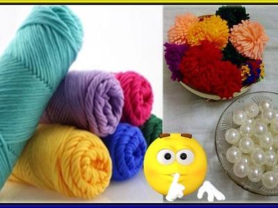 #149 How to Make Pearl  Beaded Woolen Necklace || Diy || Jewellery Making || Art || DiyArtiePie