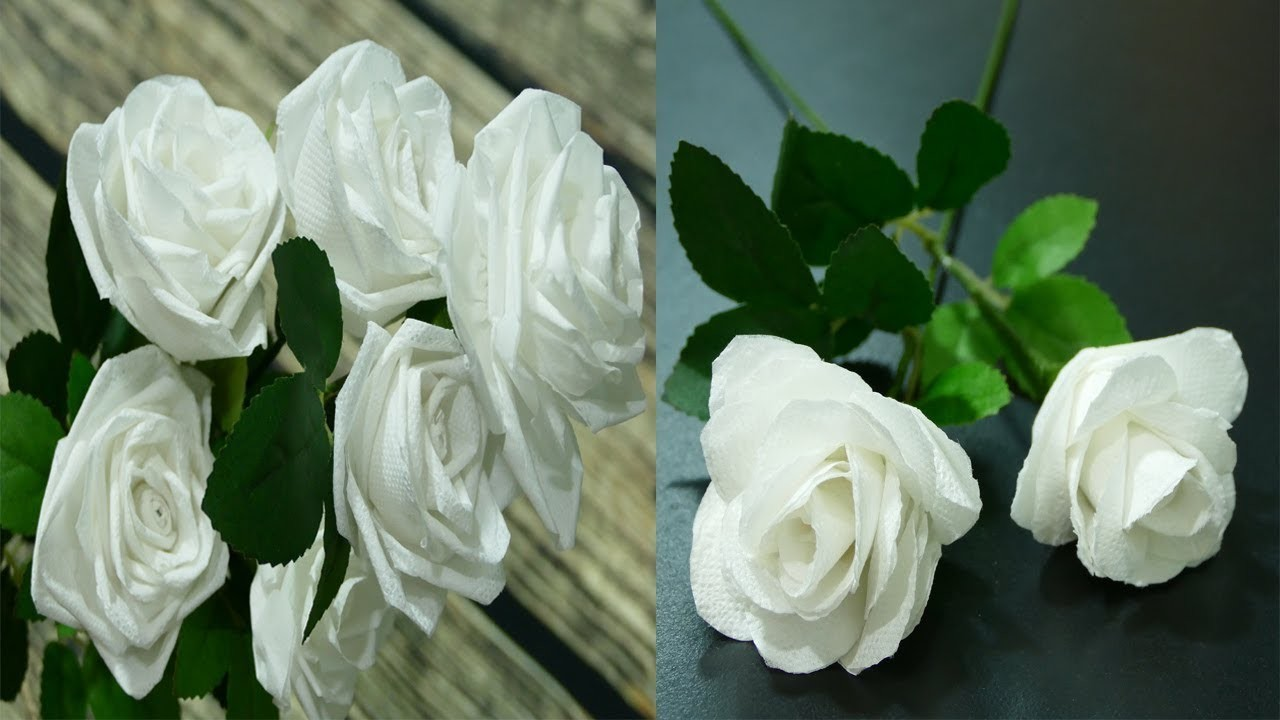 3 Ways To Make Roses With Toilet Paper Flowers Diy