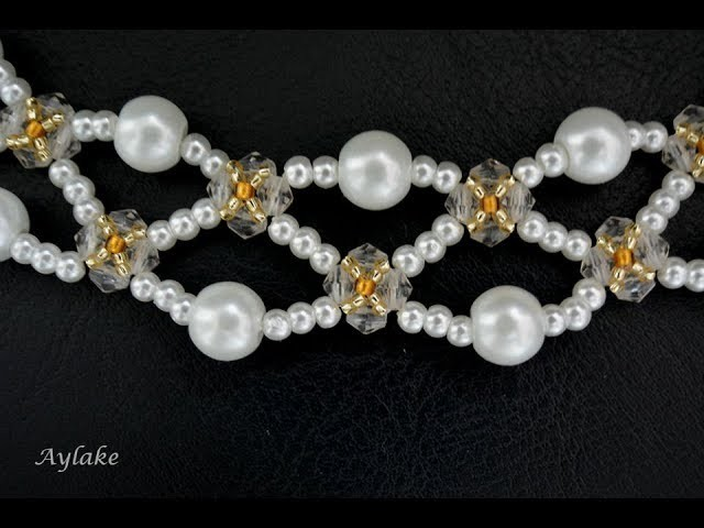 """Aylake - How to make beaded necklace """"IMAN"""""""