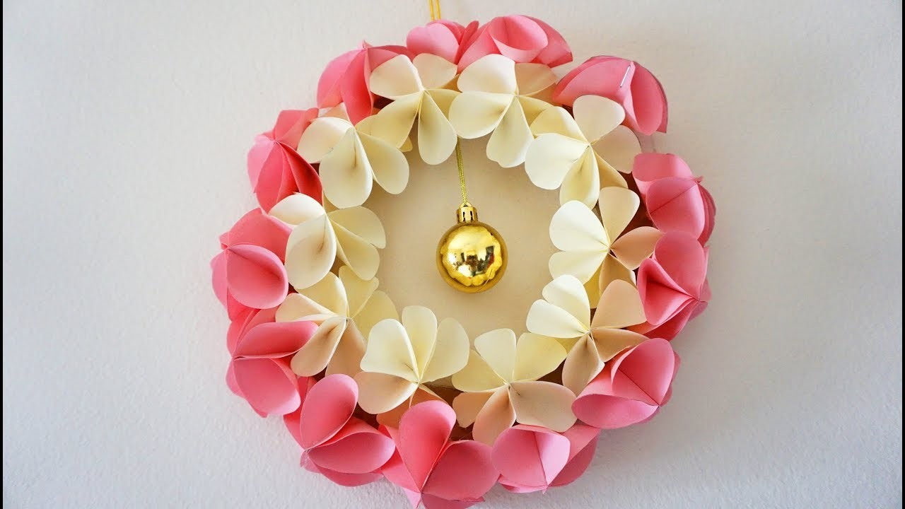 Beautiful Paper Flower Wall Hanging - Best Wall Hanging Ideas