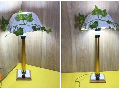 Bedside Lamp DIY - How to Make a Simple Bedside Table Lamp at Home (Cement Shade)
