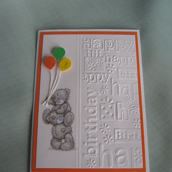 Birthday card for 3 year old        K1TF