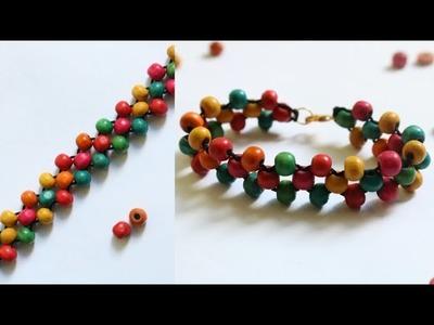 Bracelet. Friendship bracelets. How to make bracelets.friendship band. Bracelet with wooden beads