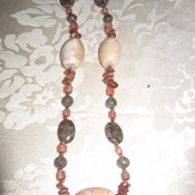 Brand New Bumblebeads Original Handmade Pink and Brown Gemstone Necklace
