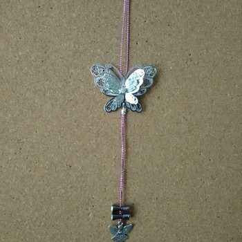 Butterfly and angel sun catcher