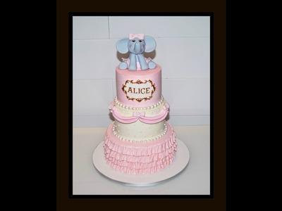 Cake decorating tutorials | how to make a Buttercream Ruffle Cake | Sugarella Sweets