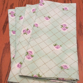 Cloth Dinner Napkins - Vintage Design Print - Handmade -  Eco Friendly