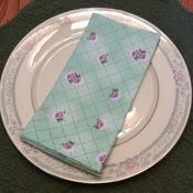 Cloth Dinner Napkins - Vintage Design Print - Handmade -  Eco Friendly