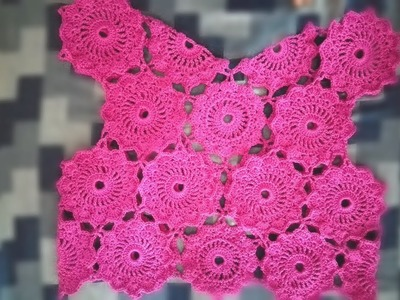 CROCHET MOTIF FOR SHRUG - How to join motif | Crochet Shrug Free pattern