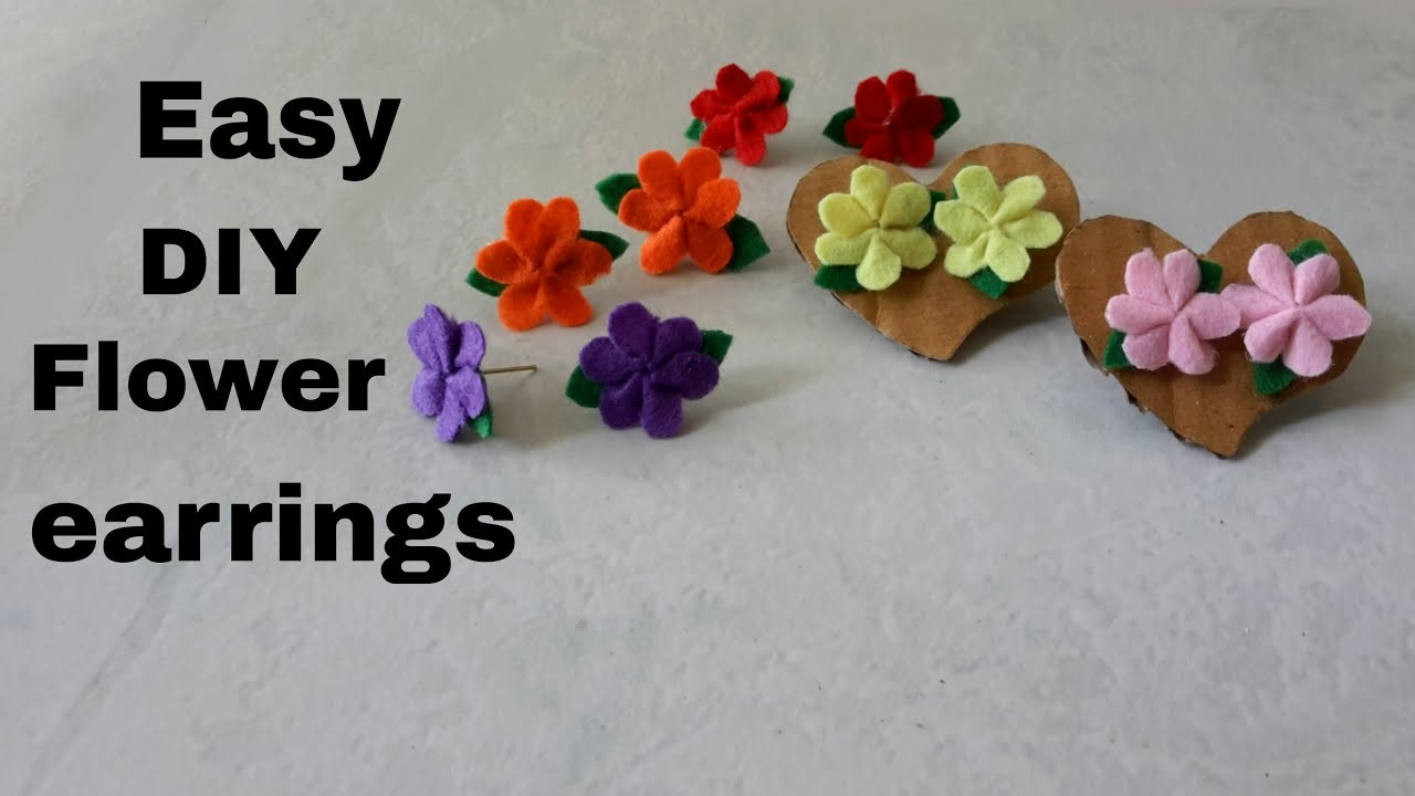 Cute & easy DIY flower earrings