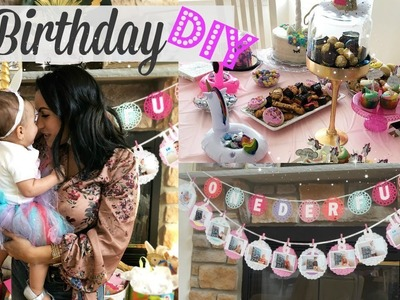 DIY BIRTHDAY PARTY DECORATIONS. 1ST BIRTHDAY PARTY FOR GIRL. HOW TO MAKE A TUTU