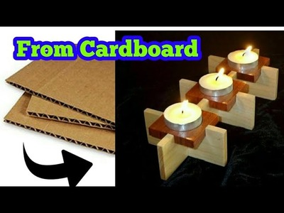 DIY Candle Holder | How To Make A Candle Holder Out Of Cardboard | art my passion