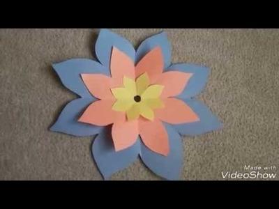Diy crafts    paper flower crafts    simple    Beginners crafts    ks lakshmi - 14