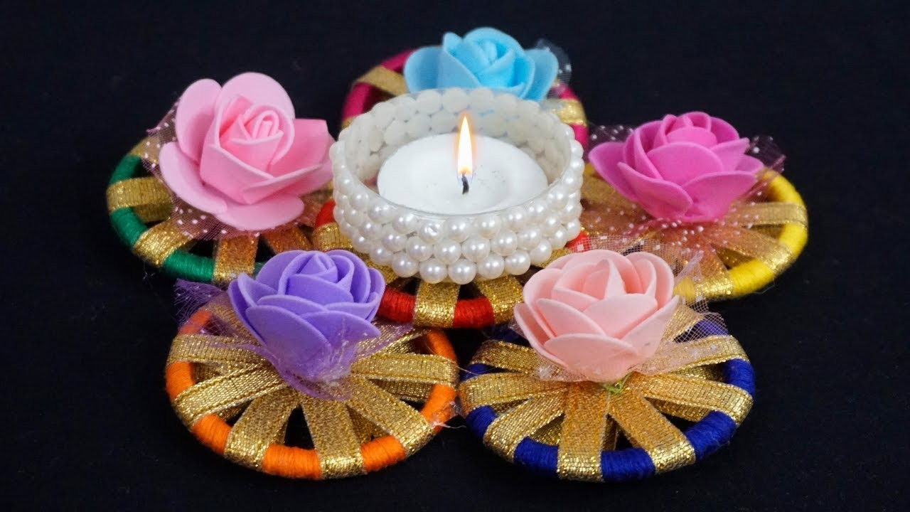 DIY Diwali.Christmas Home Decoration Ideas | How To Decorate Candles From  Bangles?